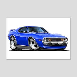 1971-74 Javelin Blue Car Mini Poster Print