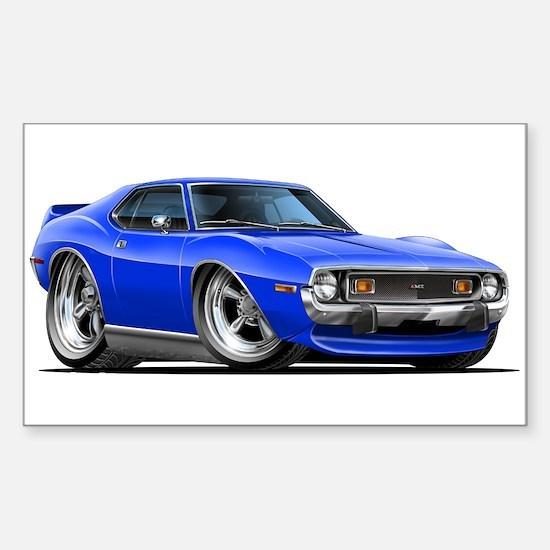 1971-74 Javelin Blue Car Sticker (Rectangle)
