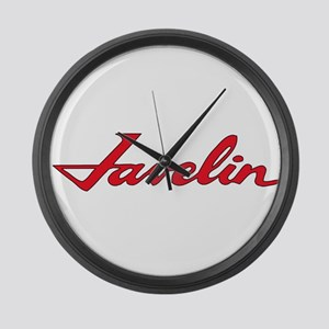 Javelin Emblem Large Wall Clock