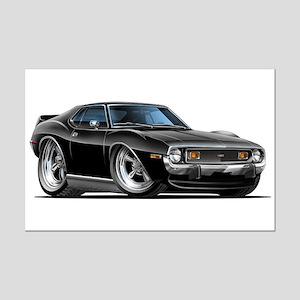 1971-74 Javelin Black Car Mini Poster Print