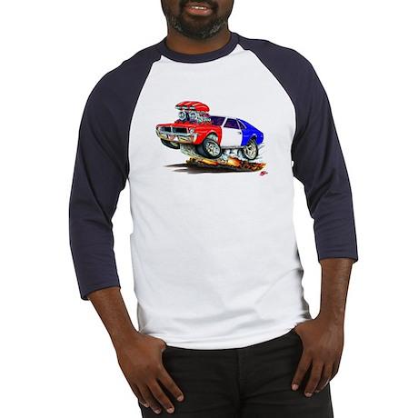 Javelin Red White Blue Car Baseball Jersey
