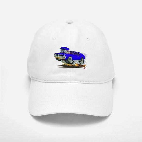 1969-70 Javelin Blue Car Baseball Baseball Cap