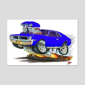1969-70 Javelin Blue Car Mini Poster Print