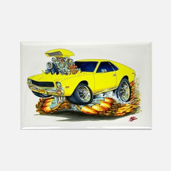 AMX Yellow Car Rectangle Magnet