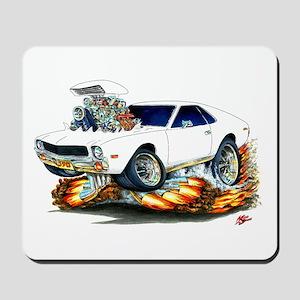 AMX White Car Mousepad