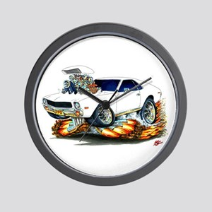 AMX White Car Wall Clock