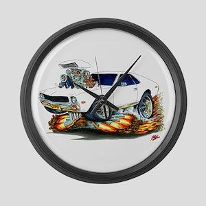 AMX White Car Large Wall Clock