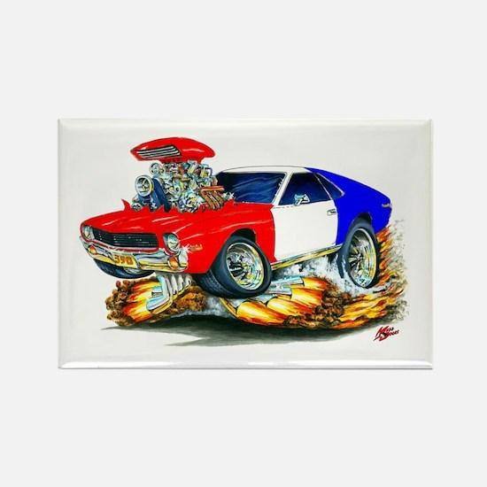 AMX RedWhiteBlue Car Rectangle Magnet