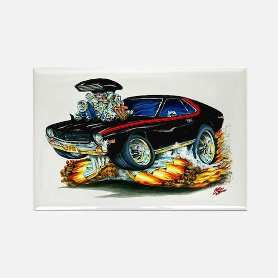 AMX Black/Red Car Rectangle Magnet
