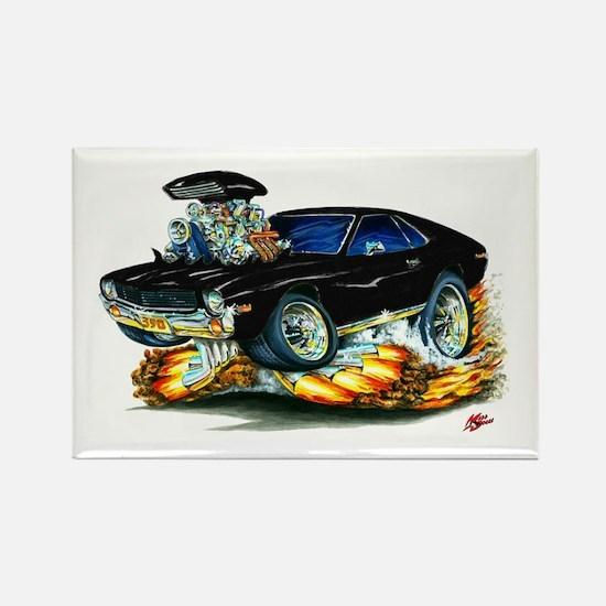 AMX Black Car Rectangle Magnet