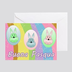 Italian easter greeting cards cafepress easter bunnies italian greeting card m4hsunfo