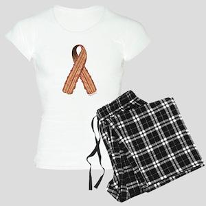 Bacon awareness ribbon Women's Light Pajamas