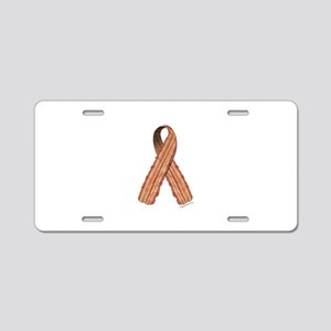 Bacon awareness ribbon Aluminum License Plate