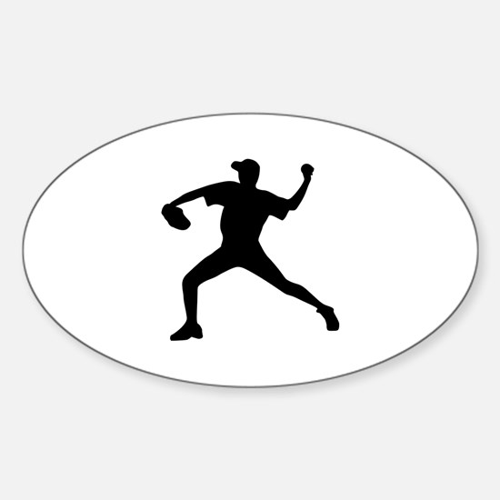 Baseball - Pitcher Sticker (Oval)