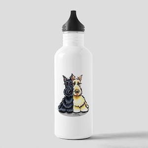 Black Wheaten Scottie Stainless Water Bottle 1.0L