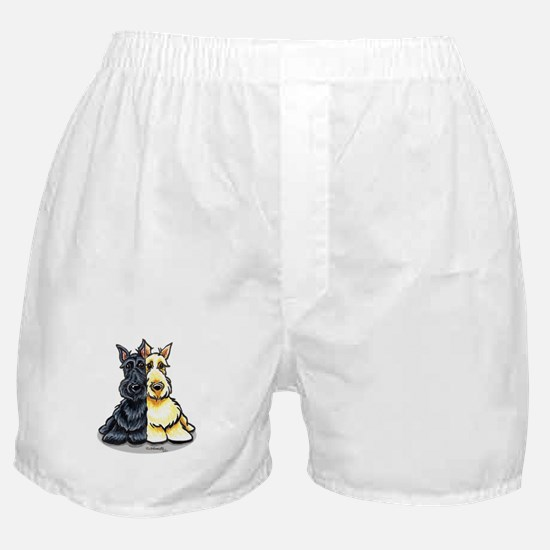 Black Wheaten Scottie Boxer Shorts
