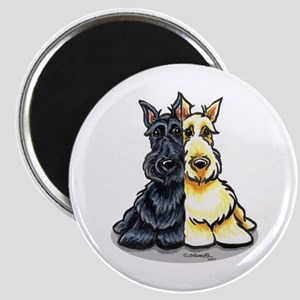 Black Wheaten Scottie Magnet
