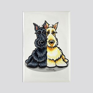 Black Wheaten Scottie Rectangle Magnet