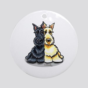 Black Wheaten Scottie Ornament (Round)
