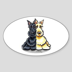 Black Wheaten Scottie Sticker (Oval)