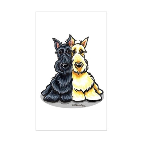 Black Wheaten Scottie Sticker (Rectangle)