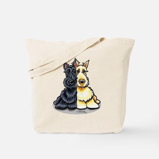 Black Wheaten Scottie Tote Bag