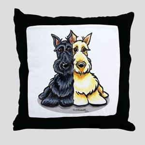 Black Wheaten Scottie Throw Pillow