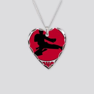 Taekwondo Necklace Heart Charm