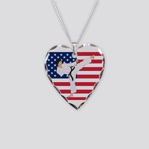 Karate Necklace Heart Charm