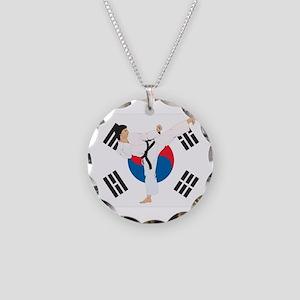 Taekwondo Necklace Circle Charm