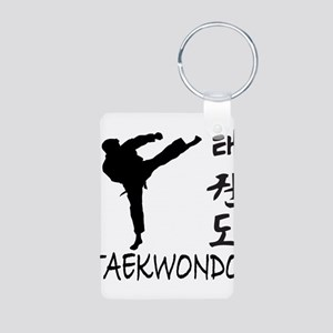 Taekwondo Aluminum Photo Keychain