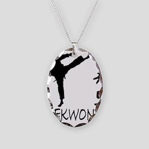 Taekwondo Necklace Oval Charm