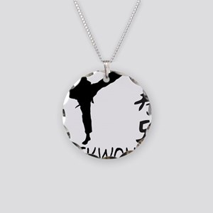 Taekwondo Necklace Circle Charm