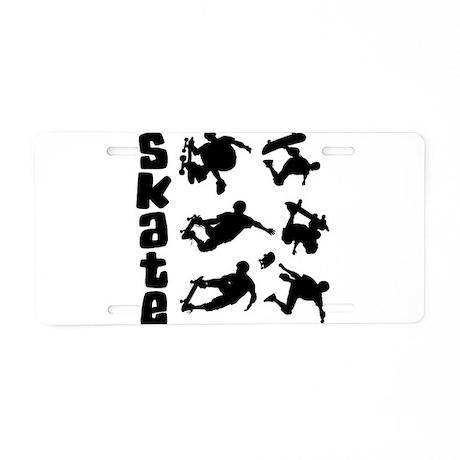 Skateboarding Aluminum License Plate