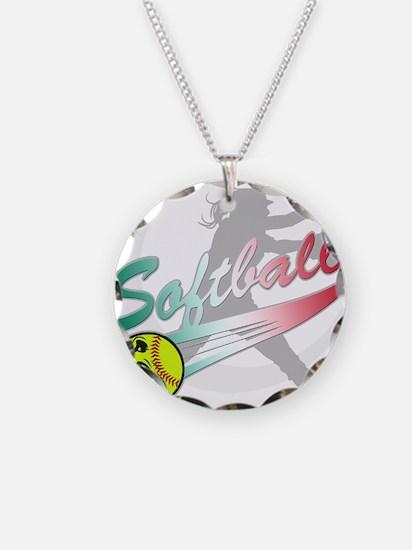 Girls Softball Necklace