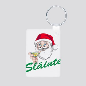 Slainte Merry Christmas Aluminum Photo Keychain
