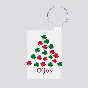 Merry Christmas Aluminum Photo Keychain