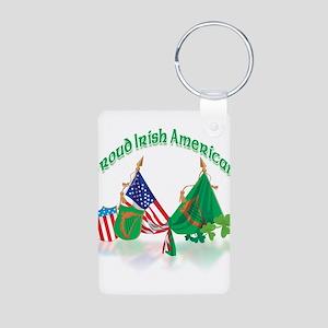 Irish American Aluminum Photo Keychain