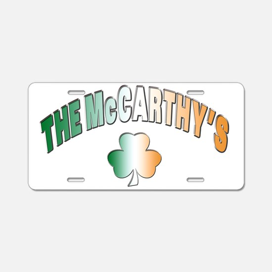 The McCarthy family Aluminum License Plate