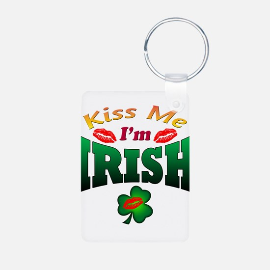 kiss I'm irish Keychains