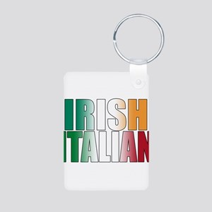 Irish Italian Aluminum Photo Keychain
