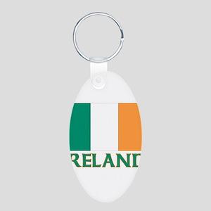 Irish flag Aluminum Oval Keychain