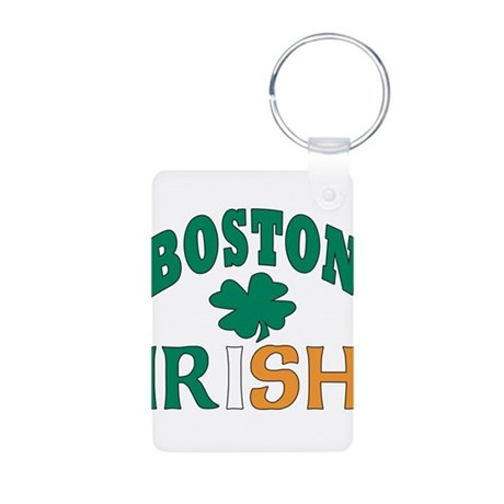 Boston irish Aluminum Photo Keychain