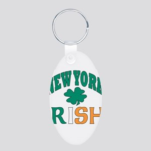 New York irish Aluminum Oval Keychain