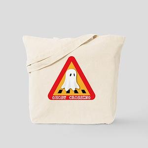 Cute Ghost Crossing Sign Tote Bag