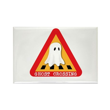 Cute Ghost Crossing Sign Rectangle Magnet