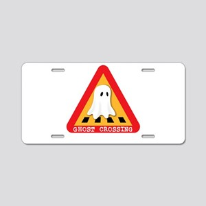 Cute Ghost Crossing Sign Aluminum License Plate