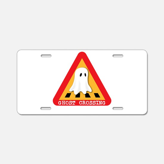 Cute Ghost Crossing Sign Aluminum License Plate