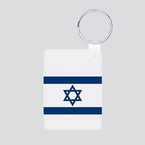 Support Isreal Aluminum Photo Keychain