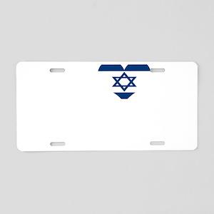 I love Isreal Aluminum License Plate